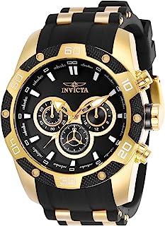 Invicta Men's Speedway Quartz Watch with Stainless Steel Strap, Black, 26 (Model: 25835)