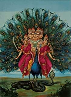 GXJAWYZ RompecabezasRompecabezas de Madera para adultosPavo Real Azul con Dioses hindúes(1000 Piezas)