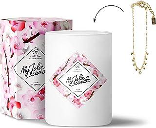 MY JOLIE CANDLE - Bougie parfumée avec Bijou Suprise à l'intérieur - Bijou : Bracelet en Plaqué Or - Parfum : Fleur de Cer...