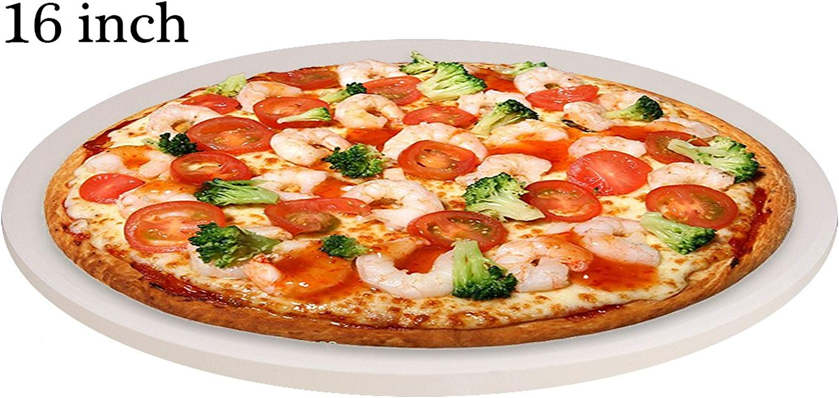 Extra Thick Round Pizza Stone For Cooking Baking Grilling JUNING