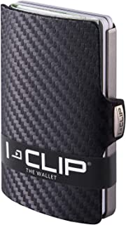 I-CLIP ® Portafoglio Carbon, La Telaio Mettalic-Grey (Disponibile In 2 Versioni)