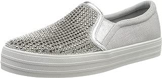 Skechers 斯凯奇 女式 Double Up-Diamond Eyez 一脚蹬运动鞋