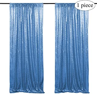 Shimmer Sequin Fabric Backdrop 2ftx8ft Photo Booth Backdrop Sequin Curtains Panels Baby Blue Photography Wedding Background