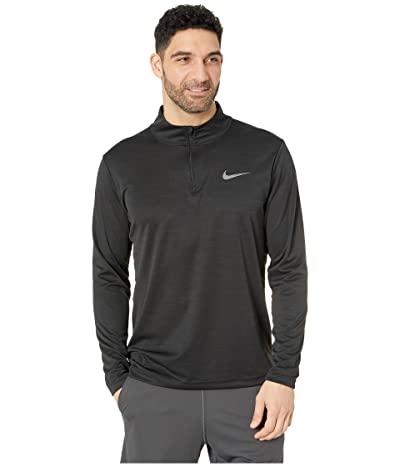 Nike Superset Top Long Sleeve 1/4 Zip (Black/Metallic Hematite) Men