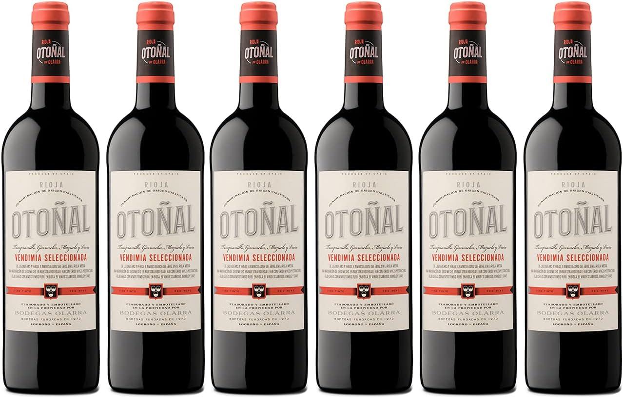 Otoñal - Vino Tinto Vendimia Seleccionada, Vino Rioja Joven y Diferente de Bodegas Olarra, Pack de 6 Botellas de 750 ml