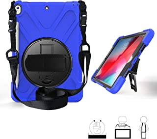 iPad Air 3 (10.5-inch 2019) Case,iPad Pro 10.5 Case, Yoomer 360 Degree Rotatable Case with Kickstand,Hand Strap,Shoulder Strap and Stylus Holder for iPad AIR 10.5