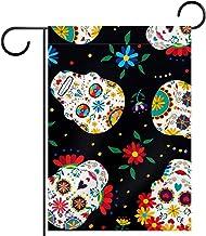 Tuinvlag, Decor Yard Banner Boerderij Outdoor Decoratie Bloemen Schedel Patroon Verticaal 28x40 Inch