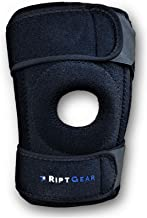 RiptGear Open Patella Knee Brace with Adjustable Side Straps - Designed to Reduce Pressure on Knee Cap - Medium, Right Knee