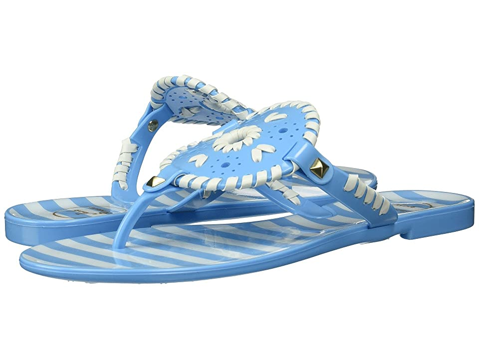 Jack Rogers Striped Georgica Jelly (French Blue/White) Women