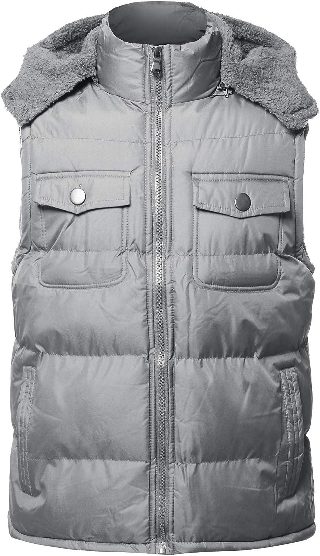 Youstar Men's Lightweight Packable Zip Puffy Outdoor Vest Jacket