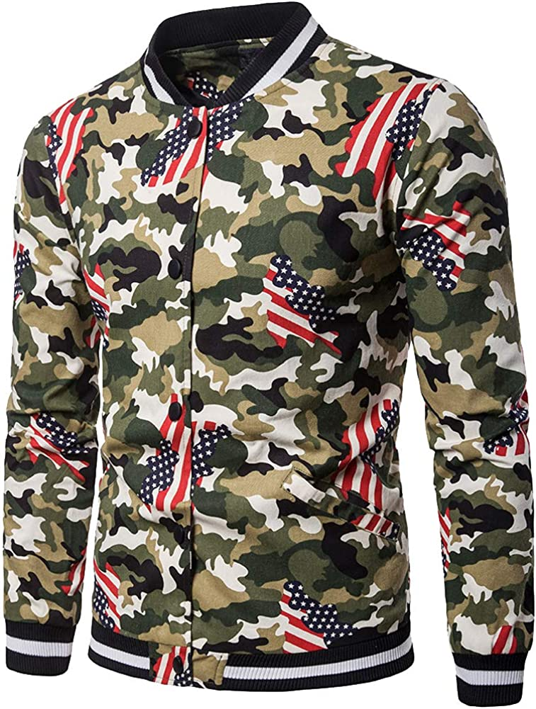 Cottory Mens Casual Camouflage Recommendation Ranking TOP13 Printed Jack Bomber Coat Baseball