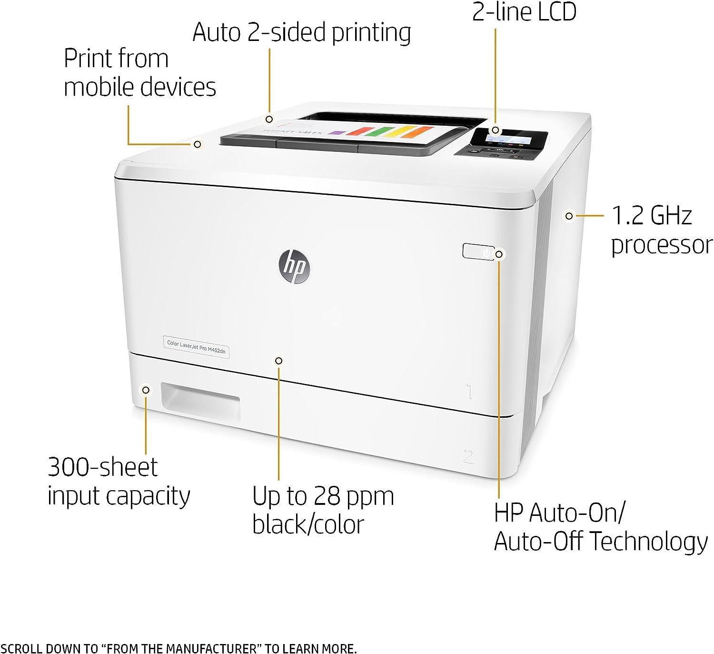 HP Laserjet Pro M452dn Color Printer, (CF389A) (Renewed)