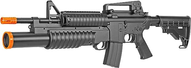 BBTac Airsoft Gun Electric Rifle Full Auto with Burst 3 Round Launcher, Rail System, Powerful AEG Shoot 6mm BBS
