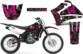 2000-2007 Yamaha TTR 125 AMRRACING ATV Graphics Decal Kit-Butterfly-Pink-Black