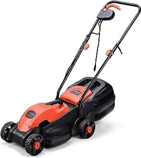 Goplus 14-Inch 12 Amp Lawn Mower w/Grass Bag Folding Handle Electric Push Lawn Corded Mower (Red)
