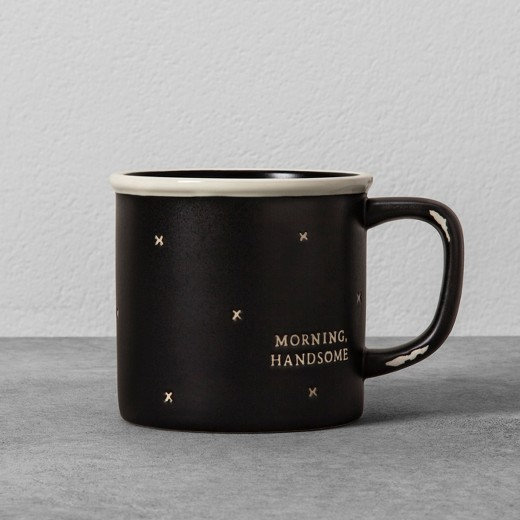Morning Handsome Stoneware Mug - Black - Hearth & Hand™ with Magnolia : Target