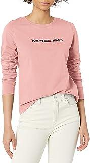 Tommy Hilfiger Damen Long Sleeve Tommy Globe Tee T-Shirt
