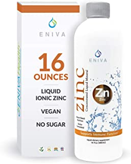 Eniva Liquid Ionic Zinc | Immune Health, Vision, Skin | Made in USA | Vegan, Low-Carb and Keto Approved | No Artificial Co...