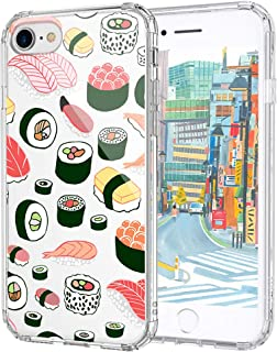 MOSNOVO iPhone 7 Case, iPhone 8 Case, Cute Sushi Design Printed Clear Plastic Hard Back Panel Case with Protective Shock Proof TPU Bumper Gel Case Cover for iPhone 7 (2016) / iPhone 8 (2017)