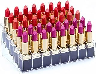 Benbilry Lipstick Holder, 40 Space Acrylic Lipstick Holder Organizer Case Display Rack,40 Slots (in a 8 x 5 Arrangement) Stand Cosmetic Makeup Organizer Lipstick, Brushes, Bottles More