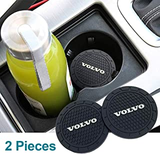 Funsport 2.75 Inch Diameter Oval Tough Car Logo Vehicle Travel Auto Cup Holder Insert Coaster Can 2 Pcs Pack Accessories (...