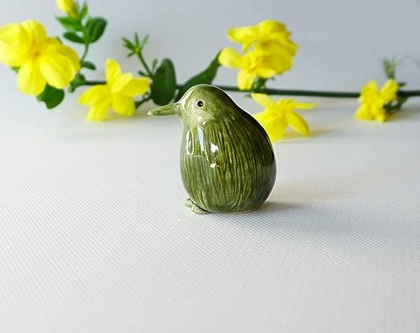 Handmade Ceramic Kiwi Bird Figurine
