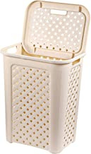 Cello Classic Plastic Laundry Basket, 30 Litres, Ivory