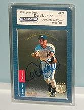 Derek Jeter Autographed Signed 1993 Ud Sp #279 Rookie Card Foil Steiner Coa Upper Deck Jeter - Authentic Memorabilia