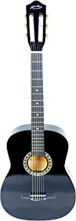 38 inch Mike Music Classical Guitar with Bag (38C, Black)