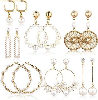 plum pearl earrings
