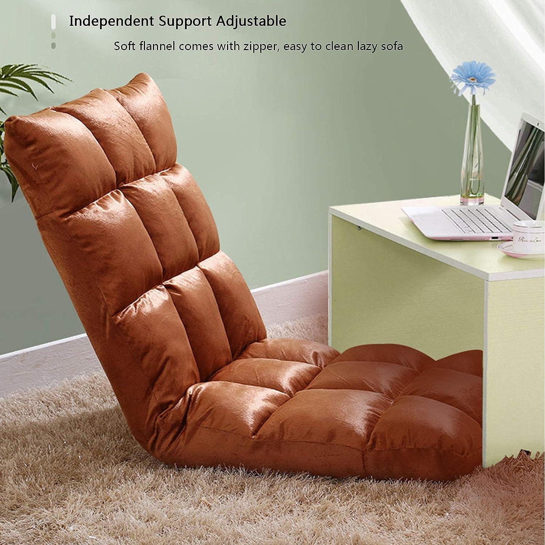 GYCC Banquette de sol réglable Tatami avec support dorsal pour une personne - Chaise longue pliante 5 positions - Doux et confortable - Lavable 7