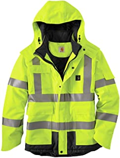 Carhartt Men's High Visibility Waterproof Class 3 Insulated Sherwood Jacket