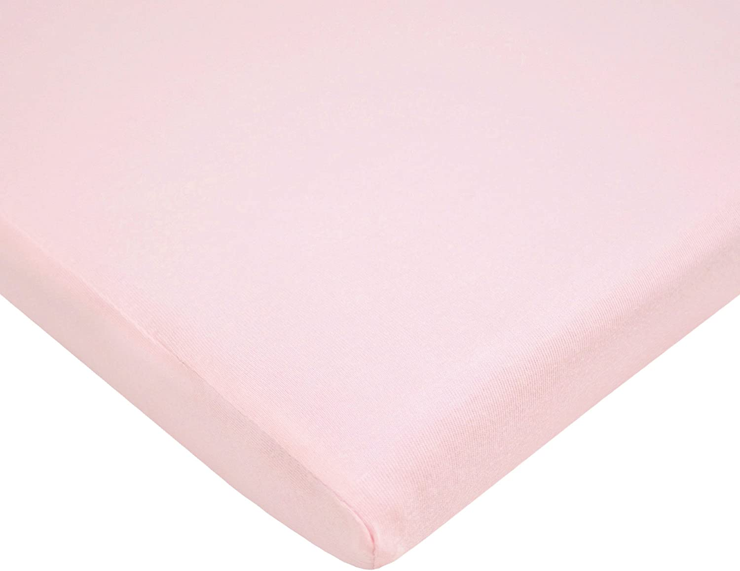 TL Care Heavenly Soft Minky Dot Ensemble de 3 berceaux pour fille Rose rose