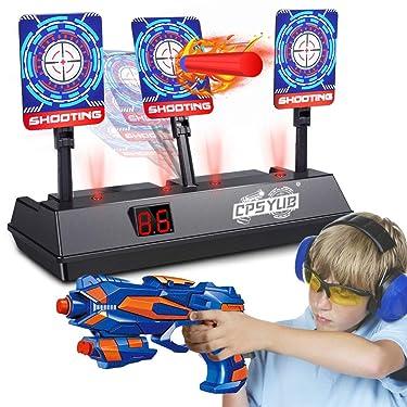 CPSYUB (edición actualizada 2020) Objetivo digital eléctrico para juguetes de pistolas Nerf, anotación de restablecimiento automático Nerf objetivo para disparar con maravilloso efecto de sonido de luz para niños niñas (solo objetivo)