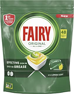 Fairy All-In-One Dishwasher Tablets, 48 Count
