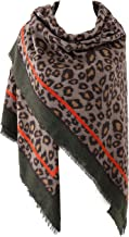 Women's Leopard Print Blanket Square Wrap Scarf