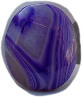 The Best Jewellery Purple Botswana Agate cabochon, 35Ct Natural Gemstone, Oval Shape Cabochon For Jewelry Making (36x22x7m...