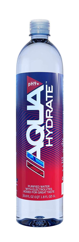 AQUAhydrate Max 52% OFF Electrolyte Enhanced Water Ph9+ o San Jose Mall Oz Fl. 33.8 Pack