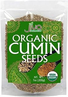 Jiva USDA Organic Cumin Seeds Whole 7oz - Packaged in Resealable Bag