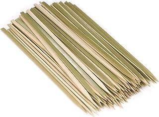 "BambooMN Brand - Premium Flat Style Bamboo Wood BBQ Kebab Meat and Fruit Food Skewers, 9"" - 100 pcs"