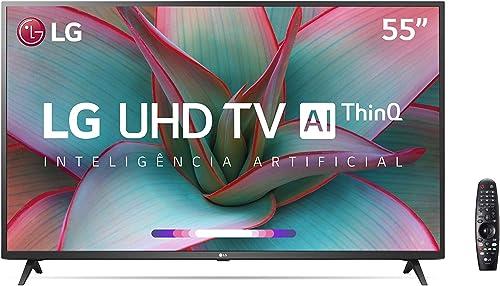 "Smart TV 55"" 4K LG 55UN7310PSC, UHD, WiFi, Bluetooth, HDR, Inteligência Artificial ThinQAI, Controle Smart Magic, Goo..."