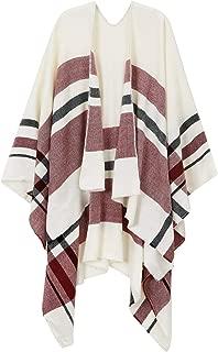 Women's Plaid Shawl Wrap Tartan Blanket Scarf Poncho