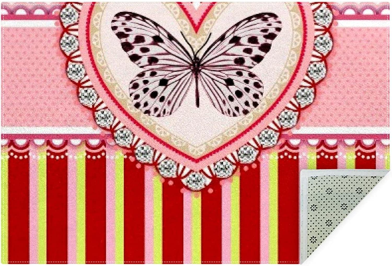 meikadianzishangwu No-Shedding Non-Slip Washable Striped Machine Daily bargain Cheap sale