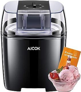 comprar comparacion Aicok 1.5 Litro Maquina de Helados con Temporizador para Hacer Helado,Sorbete y Yogur Congela en 15-30 Minutos,Máquina de ...
