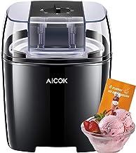 Aicok Sorbetière, 1,5L sorbetiere , fabrication de la crème glacée en 15-20 minutes, sorbetière 250 W, y compris la recett...