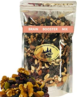 Brain Booster Nut Seed and Fruit Mix - walnuts, almonds, peanuts and a touch of sweetness from dried cranberries, blueberr...