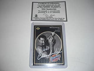 Wilt Chamberlain Harlem Globetroters Auto #2 Scoreboard/coa & Stamp Signed Card - Basketball Autographed Cards