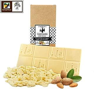 Chocolate blanco artesano almendras sin azúcar