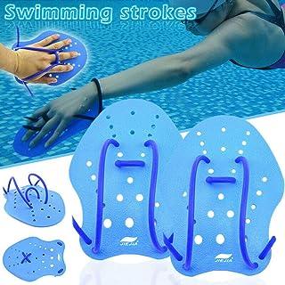 CapsA Hand Paddles for Swim Training Swimming Stroke Short Palm Hand Paddle Water Webbed Gloves