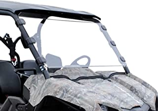 SuperATV Heavy Duty Scratch Resistant Full Windshield for Yamaha Viking/Viking VI (2014+) - Hard Coated for Extreme Durability and Long Life - Easy to Install!